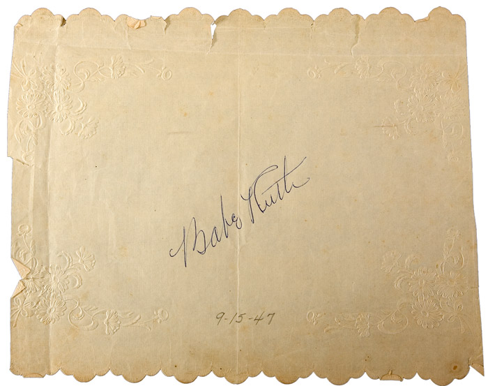 Babe Ruth Autograph On Paper