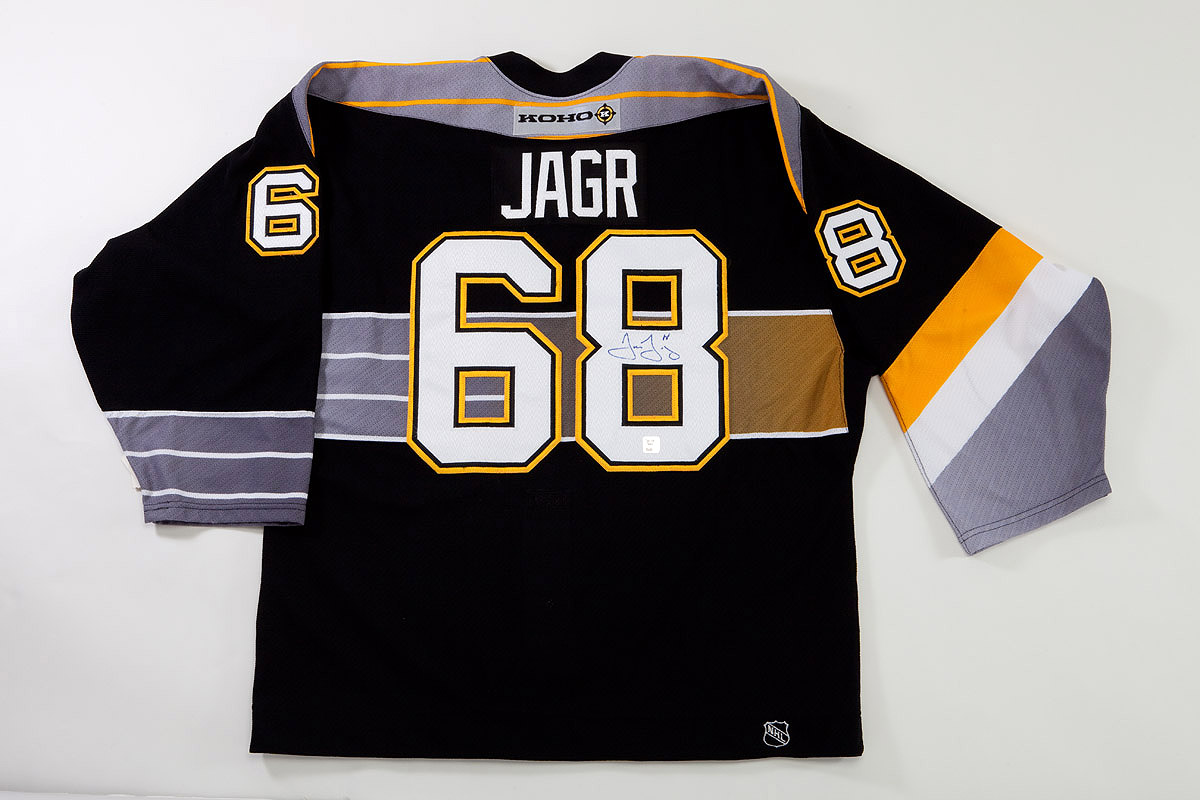 half off c052f 91878 Lot Detail - SIDNEY CROSBY SIGNED JERSEY AND JAROMIR JAGR ...