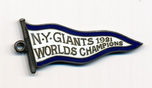 1922 NEW YORK GIANTS SILVER SEASON PASS