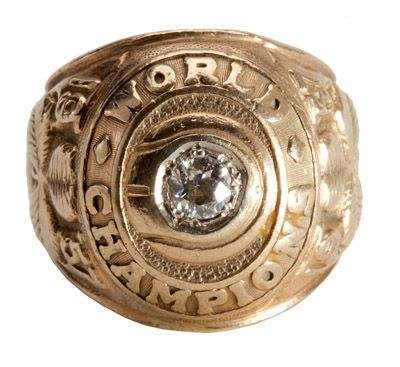 RED AUERBACHS 1957 BOSTON CELTICS NBA CHAMPIONSHIP RING WORN BY HIS WIFE DOROTHY