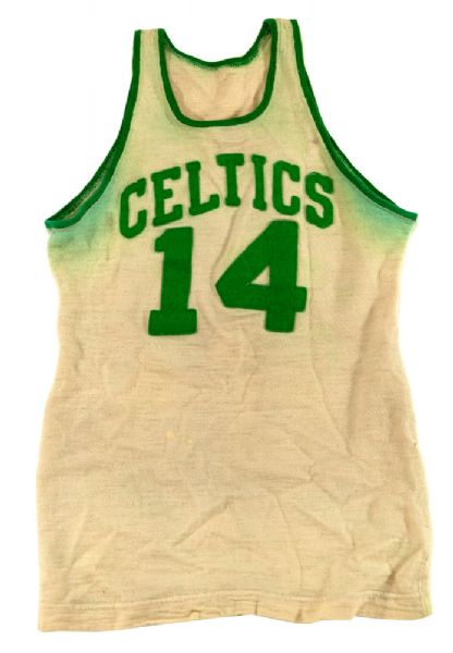 1950 BOB COUSY BOSTON CELTICS GAME WORN ROOKIE JERSEY FROM RED AUERBACHS PERSONAL COLLECTION