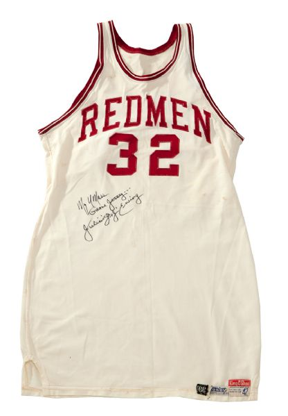 "JULIUS ""DR. J"" ERVINGS 1969-70 UMASS REDMEN GAME WORN JERSEY"