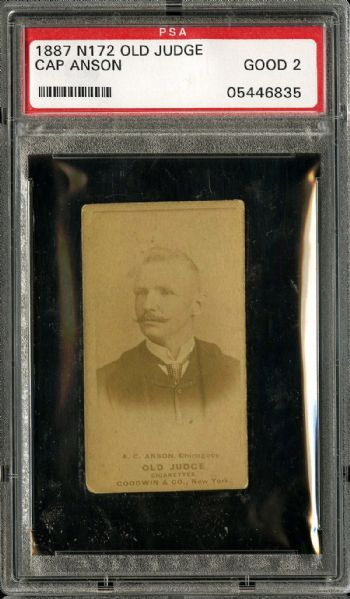 1887 N172 OLD JUDGE A. C. ANSON, CHICAGOS GD PSA 2