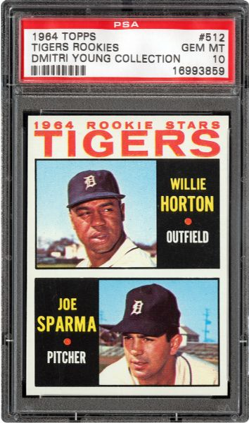 1964 TOPPS #512 WILLIE HORTON GEM MINT PSA 10 (1/1) - DMITRI YOUNG COLLECTION