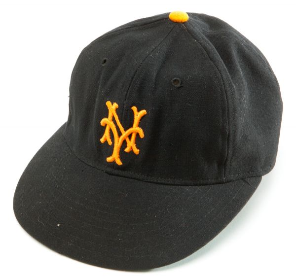 "BOBBY THOMSONS 1951 NEW YORK GIANTS CAP WORN TO HIT ""THE SHOT HEARD ROUND THE WORLD"" (IMPECCABLE PHOTO PROVENANCE) -EX NATIONAL BASEBALL HALL OF FAME"