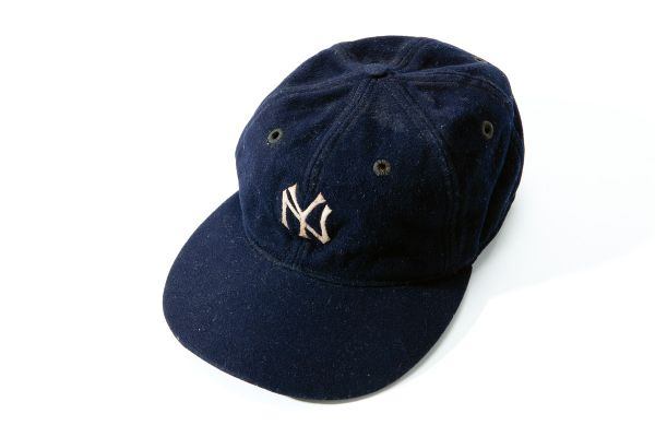 1930S BABE RUTH NEW YORK YANKEES GAME WORN CAP (EX-DAVID WELLS COLLECTION)