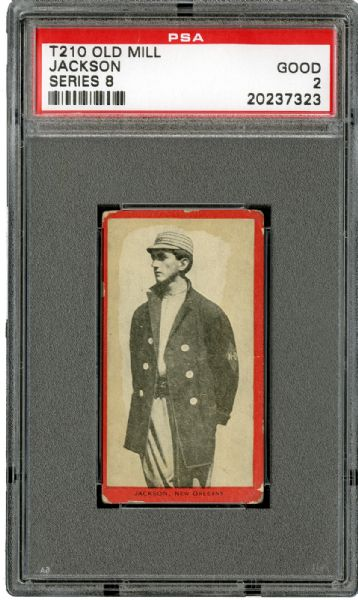 1910 T210 OLD MILL SERIES 8 JOE JACKSON GD PSA 2