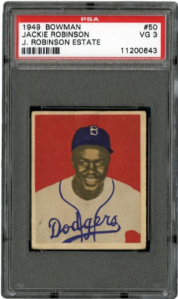 "JACKIE ROBINSON'S PERSONALLY OWNED 1949 BOWMAN ""ROOKIE"" CARD FROM ROBINSON ESTATE (RACHEL ROBINSON LOA)"