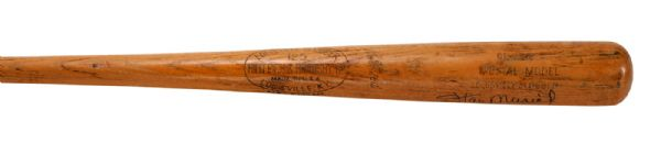 STAN MUSIAL AUTOGRAPHED 1958-60 H&B PROFESSIONAL MODEL GAME USED BAT (PSA/DNA GU9)