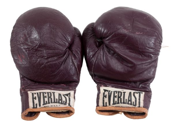 "MUHAMMAD ALIS FIGHT-WORN GLOVES FROM HIS HISTORIC MARCH 8, 1971 BOUT VS. JOE FRAZIER (ALI-FRAZIER I) ""THE FIGHT OF THE CENTURY"""