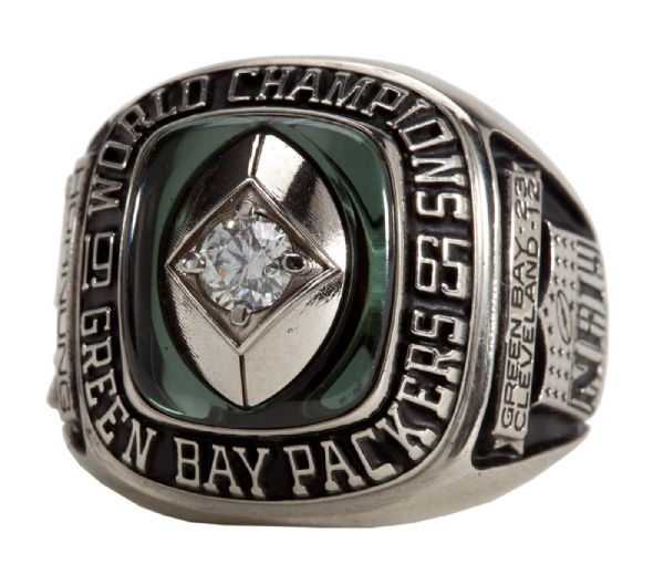 PAUL HORNUNG'S 1965 GREEN BAY PACKERS NFL CHAMPIONSHIP RING - REISSUE (HORNUNG LOA)