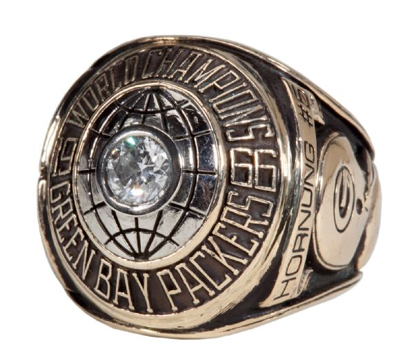 PAUL HORNUNG'S 1966 GREEN BAY PACKERS SUPER BOWL I CHAMPIONSHIP RING - REISSUE (HORNUNG LOA)