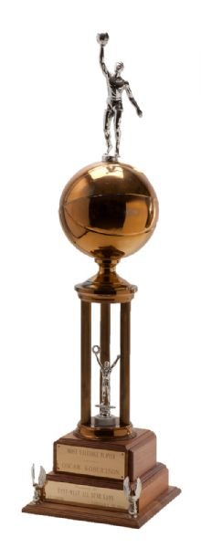 OSCAR ROBERTSON'S 1963-64 NBA MOST VALUABLE PLAYER TROPHY (ROBERTSON LOA)