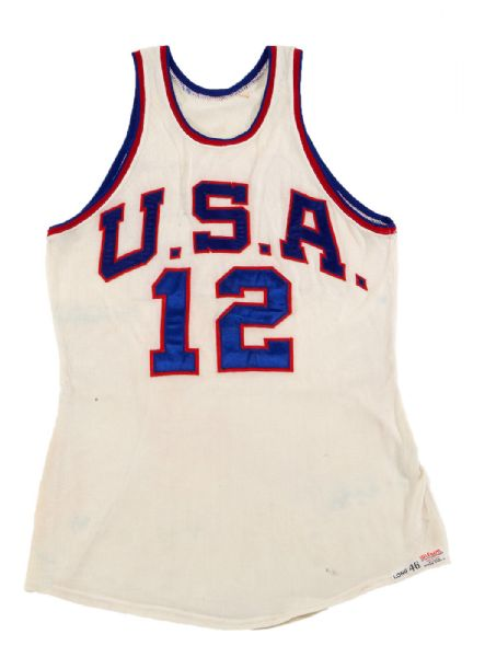 OSCAR ROBERTSON'S 1959 PAN AMERICAN GAMES TEAM USA GAME WORN JERSEY (ROBERTSON LOA)