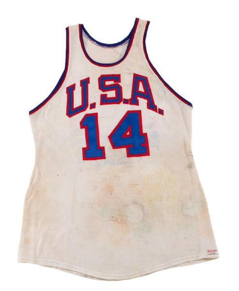 OSCAR ROBERTSON'S 1960 OLYMPIC GOLD MEDAL WINNING TEAM USA GAME WORN JERSEY (ROBERTSON LOA)