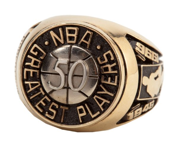 OSCAR ROBERTSON'S 1996 NBA 50 GREATEST PLAYERS RING (ROBERTSON LOA)