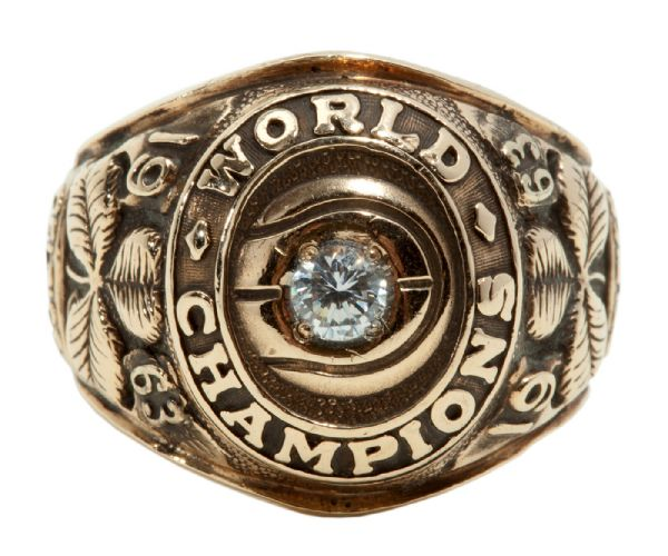 JOHN HAVLICEK'S 1963 BOSTON CELTICS WORLD CHAMPIONSHIP RING (HAVLICEK LOA)