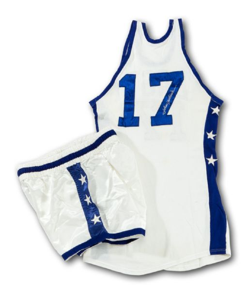 JOHN HAVLICEK'S 1966 SIGNED NBA ALL-STAR GAME WORN JERSEY AND SHORTS (HAVLICEK LOA)