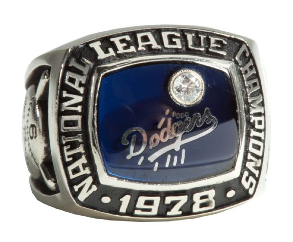 STEVE GARVEYS 14K 1978 LOS ANGELES DODGERS NATIONAL LEAGUE CHAMPIONSHIP RING (GARVEY LOA)