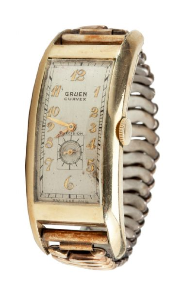 GEORGE SISLERS 1939 (INAUGURAL) BASEBALL HALL OF FAME INDUCTION GOLD PRESENTATION WRIST WATCH (SISLER FAMILY LOA)