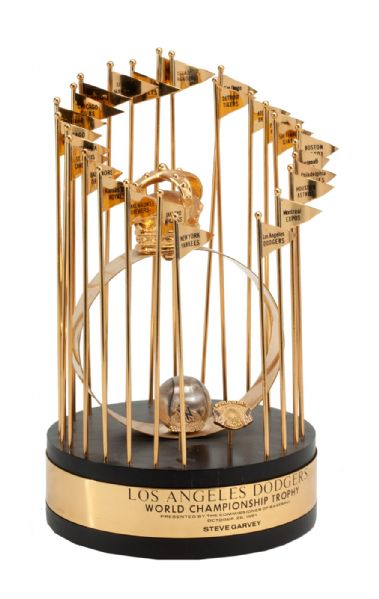 STEVE GARVEYS 1981 LOS ANGELES DODGERS PERSONAL WORLD SERIES TROPHY (GARVEY LOA)