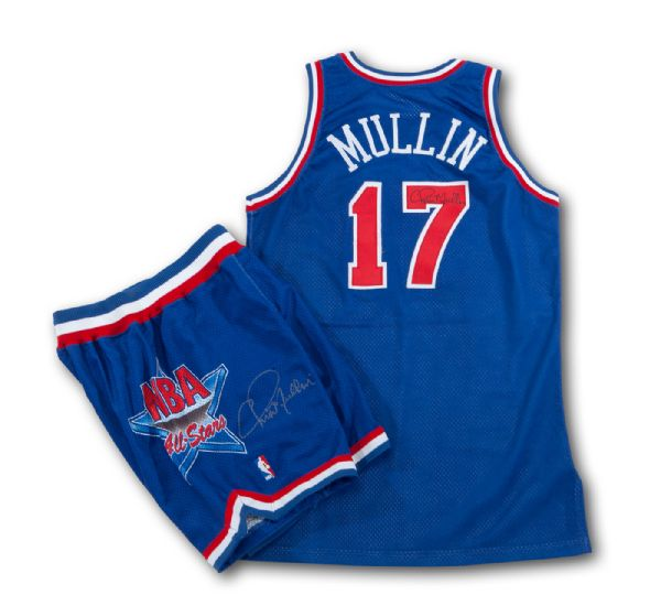 CHRIS MULLINS 1992 NBA ALL-STAR GAME WORN AND SIGNED JERSEY AND SHORTS (MULLIN LOA)