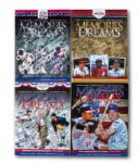 ROLLIE FINGERS LOT OF (4) MLB HALL OF FAME INDUCTION MULTI-SIGNED PROGRAMS (FINGERS LOA)