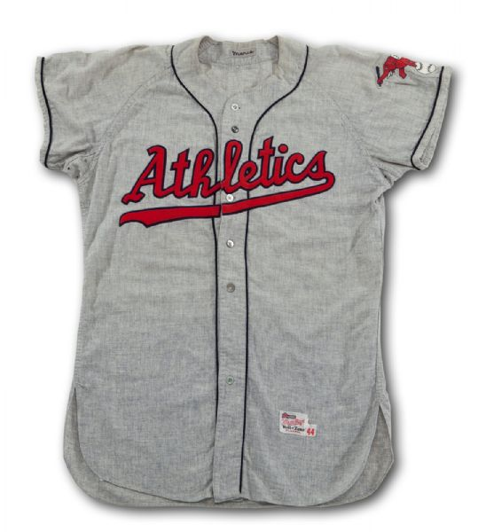1958 ROGER MARIS KANSAS CITY AS (SECOND YEAR) GAME WORN ROAD JERSEY ACQUIRED BY ROLLIE FINGERS IN AS ROOKIE TRAINING CAMP (FINGERS LOA)