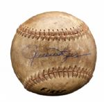 ROLLIE FINGERS 1963 SIGNED UPLAND (CA.) HIGH SCHOOL GAME USED NO-HITTER BASEBALL (FINGERS LOA)