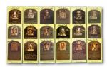 ROLLIE FINGERS LOT OF (53) GOLD HALL OF FAME PLAQUE POSTCARDS (FINGERS LOA)