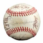 ROLLIE FINGERS 1973 AMERICAN LEAGUE ALL-STAR TEAM SIGNED BASEBALL INCL. MUNSON (FINGERS LOA)