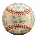 ROLLIE FINGERS 1973 NL CHAMPION NEW YORK METS TEAM SIGNED BASEBALL (FINGERS LOA)