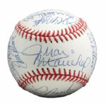 ROLLIE FINGERS PRISTINE MULTI-SIGNED HALL OF FAME INDUCTION BASEBALL (FINGERS LOA)