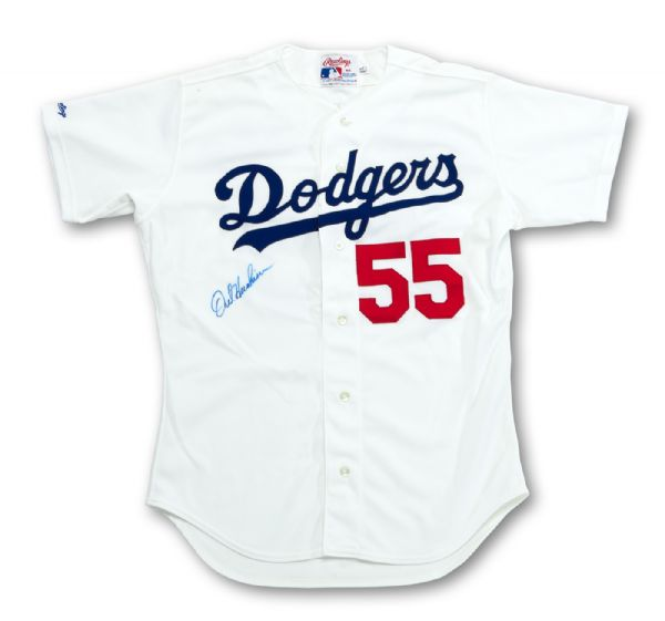 OREL HERSHISER SIGNED 1991 LOS ANGELES DODGER HOME JERSEY