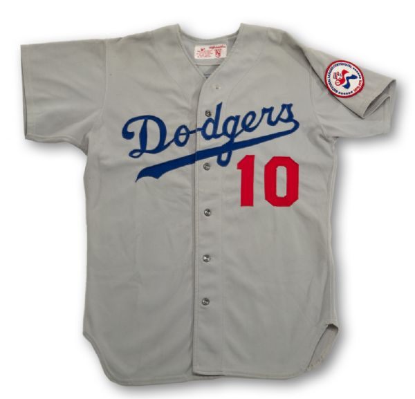 1976 RON CEY LOS ANGELES DODGERS GAME USED ROAD JERSEY (MEARS A9.5)