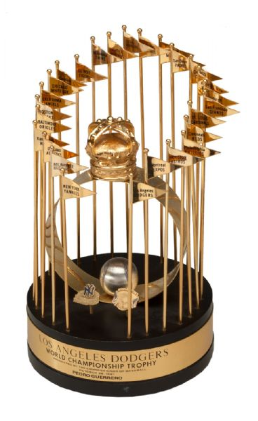 PEDRO GUERREROS 1981 LOS ANGELES DODGERS PERSONAL WORLD SERIES TROPHY - WORLD SERIES MVP! (GUERRERO LOA)