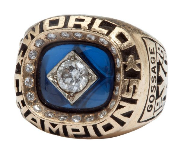 GOOSE GOSSAGES 1978 NEW YORK YANKEES WORLD SERIES CHAMPIONS RING (GOSSAGE LOA)