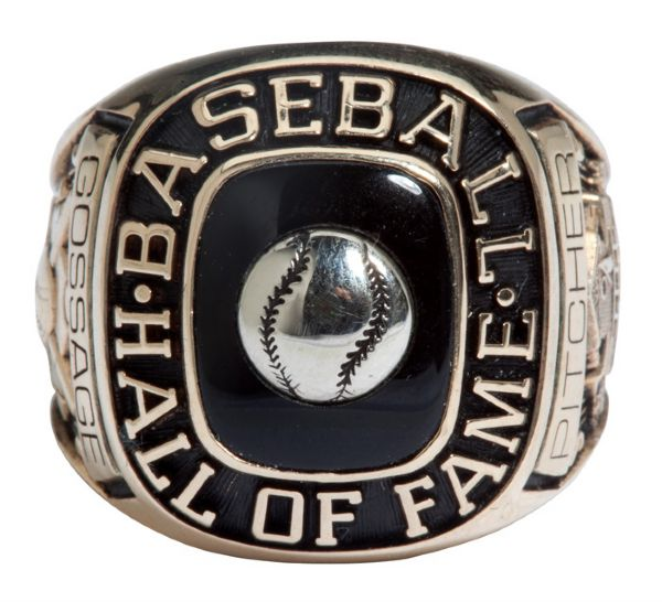 GOOSE GOSSAGES 2008 NATIONAL BASEBALL HALL OF FAME INDUCTION RING (GOSSAGE LOA)