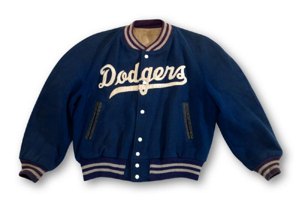 1950S DODGERS GAME WORN TEAM JACKET ATTRIBUTED TO JACKIE ROBINSON