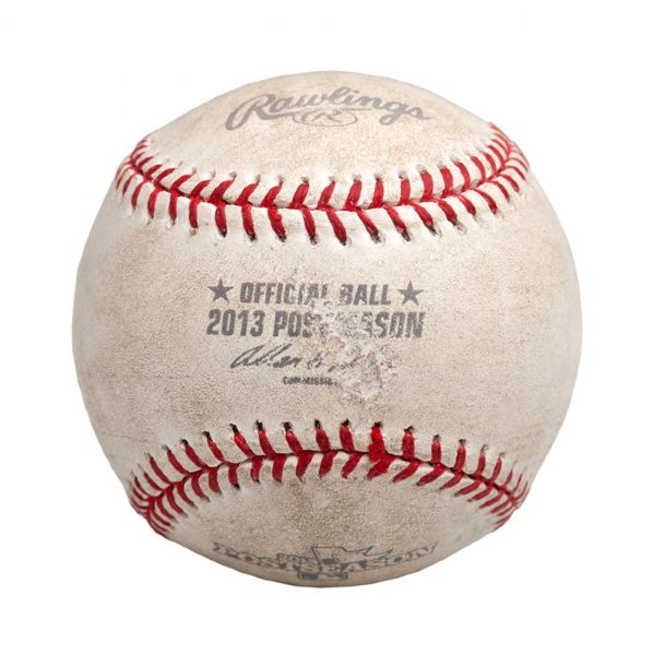 SHANE VICTORINO'S GRAND SLAM HOME RUN BALL FROM THE 2013 AMERICAN LEAGUE CHAMPIONSHIP SERIES GAME SIX – THE BALL THAT SENT THE RED SOX TO THE WORLD SERIES!