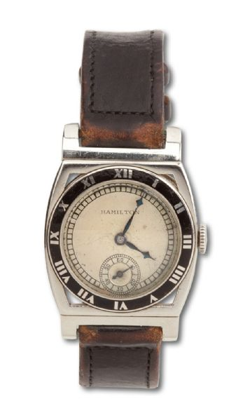LOU GEHRIGS 1928 NEW YORK YANKEES WORLD CHAMPIONSHIP HAMILTON WRISTWATCH