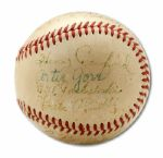 CIRCA 1956 BASEBALL SIGNED BY 13 NATIONAL LEAGUE UMPIRES  (HELMS/LA84 COLLECTION)