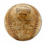 1934 TOUR OF JAPAN TEAM SIGNED BASEBALL  (HELMS/LA84 COLLECTION)