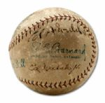 ED WALSH SENIOR AND ED WALSH JUNIOR SIGNED BASEBALL (HELMS/LA84 COLLECTION)