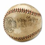 1932 CHICAGO CUBS BASEBALL SIGNED BY 13 INC. KI KI CUYLER, GABBY HARTNETT, AND BURLEIGH GRIMES  (HELMS/LA84 COLLECTION)