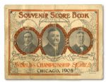 1906 WORLD SERIES PROGRAM AT CHICAGO (HELMS/LA84 COLLECTION)