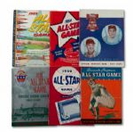 1935, 1950-52, 1954-56, 1959, 1961-67, 1970-80 BASEBALL ALL-STAR GAME PROGRAM LOT OF 25 (HELMS/LA84 COLLECTION)