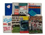 1942 THROUGH 1971 WORLD SERIES PROGRAM LOT OF 39 DIFFERENT (HELMS/LA84 COLLECTION)