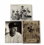 LOU GEHRIG 11 BY 14 PHOTO LOT OF 3 FROM THE CHRISTY WALSH ESTATE INCL. PHOTO SIGNED BY JACOB RUPPERT (HELMS/LA84 COLLECTION)