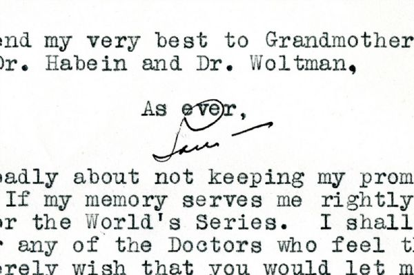 EXTRAORDINARY SEPTEMBER 13, 1939 LOU GEHRIG THREE-PAGE TLS WRITTEN TO MAYO CLINIC DR. PAUL OLEARY WITH REMARKABLE CONTENT – ONE OF THE FINEST GEHRIG ARTIFACTS EXTANT (OLEARY FAMILY PROVENANCE)